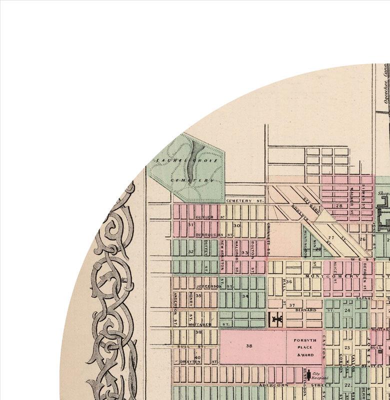 City Map Of Savannah Ga on