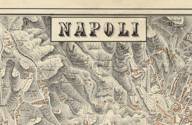 Old map of napoli naples 1880 antique vintage italy old maps and old map of napoli naples 1880 antique vintage italy product image gumiabroncs Choice Image