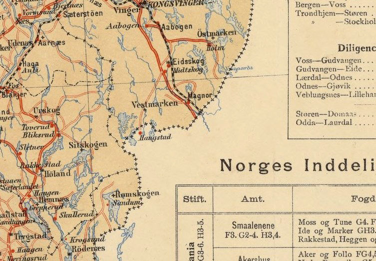 Old Map Of Norway Norge Vintage Map OLD MAPS AND VINTAGE PRINTS - Norway map voss
