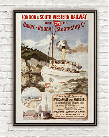 Vintage,Poster,London,Havre,Rowen,Western,Railway,,,1895,rowen, western railway, london, havre, london poster, tourisme poster,  advertise poster, ,Art,Reproduction,Open_Edition,vintage_poster,retro_poster,travel_poster,touristic_poster