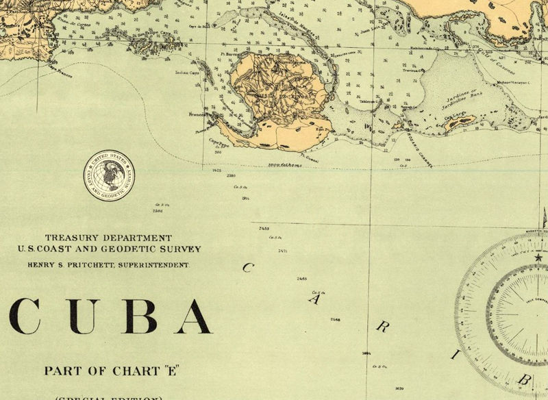 Old Map Of Cuba Vintage Map OLD MAPS AND VINTAGE PRINTS - Vintage map of cuba