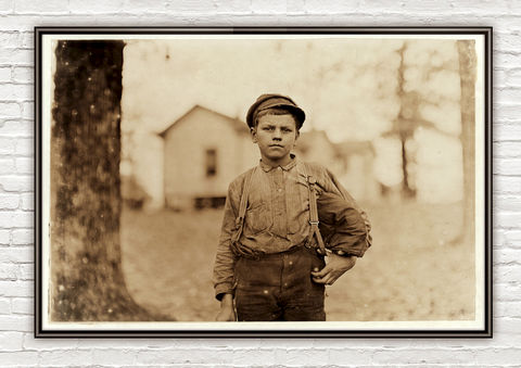Lewis,Hine,Archie,Love,,mill,worker,,Chester,,South,Carolina,,1908,Archie Love, mill worker, Chester, South Carolina, vintage photo, lewis hone, photographer, boy, north carolina, antique photo