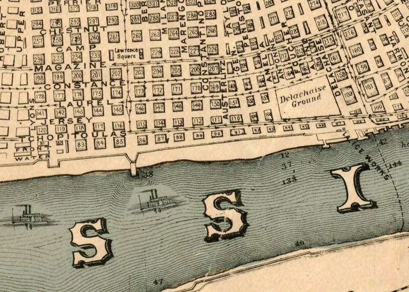 Old Map of New Orleans 1884 antique map   OLD MAPS AND VINTAGE PRINTS
