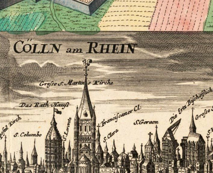 Old map of koln cologne germany 1740 old maps and vintage prints old map of koln cologne germany 1740 product image gumiabroncs Choice Image