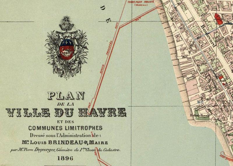 Old Map Of Le Havre France 1896 Vintage Map Old Maps And Vintage