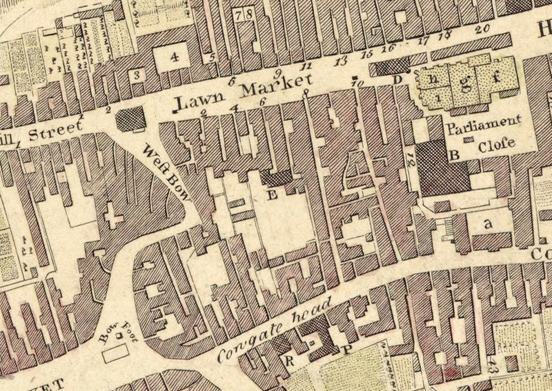 Old Map of Edinburgh, Scotland United Kingdom 1773 - OLD MAPS AND ...