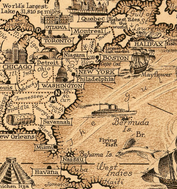 Old world map world wonders vintage poster old maps and vintage old world map world wonders vintage poster product image sciox Choice Image
