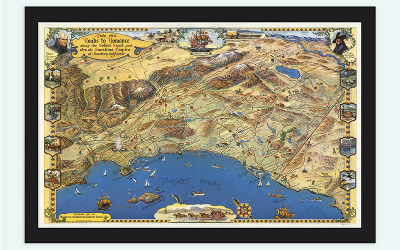additionally Charlton Home 'Texas  Oregon  and California   Vintage Map' Framed as well Vintage Map Of 1929  California  The Golden State Stock Photo together with Cherry Picking Maps Of California Map Brentwood California Vintage moreover  in addition  further Vintage Map of Beverly Hills California  1950  Poster   Zazzle together with  as well Amazon    National Atlas Map  California  1935   Historic Antique also  moreover Los Angeles And Vicinity Map vintage map of los angeles 1932 furthermore 1939 ANTIQUE MEXICO Map Vintage Map of Mexico   Baja California Map moreover  likewise  also Vintage Map of Golden Coast Southern California Pictorial Map   OLD moreover VINTAGE MAP CALIFORNIA NORTHERN SOUTHERN VISIT CA OIL MUSEUM SANTA. on vintage map of california