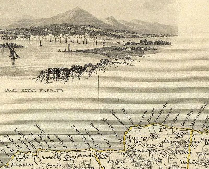 Vintage Old Map Of Jamaica Antique Map Of Jamaica OLD MAPS - Vintage map of jamaica