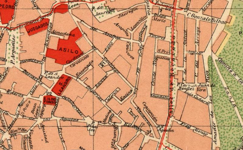 Old Map of Seville Sevilla, Spain 1904 - OLD MAPS AND VINTAGE PRINTS