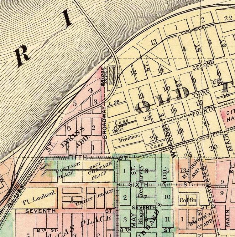 Vintage map of Kansas City, Missouri, 1882 - OLD MAPS AND VINTAGE PRINTS