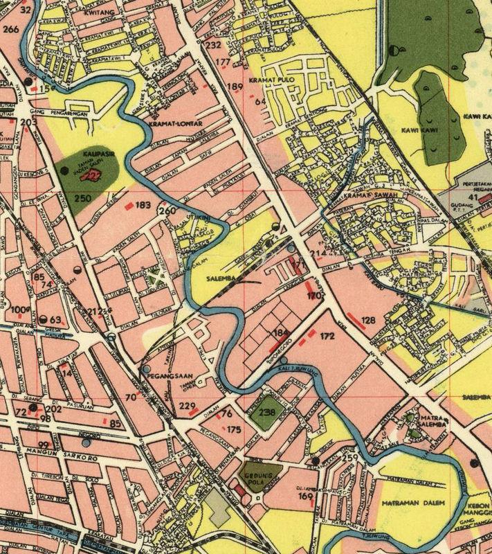 Old Map of Jakarta Batavia Indonesia OLD MAPS AND VINTAGE PRINTS