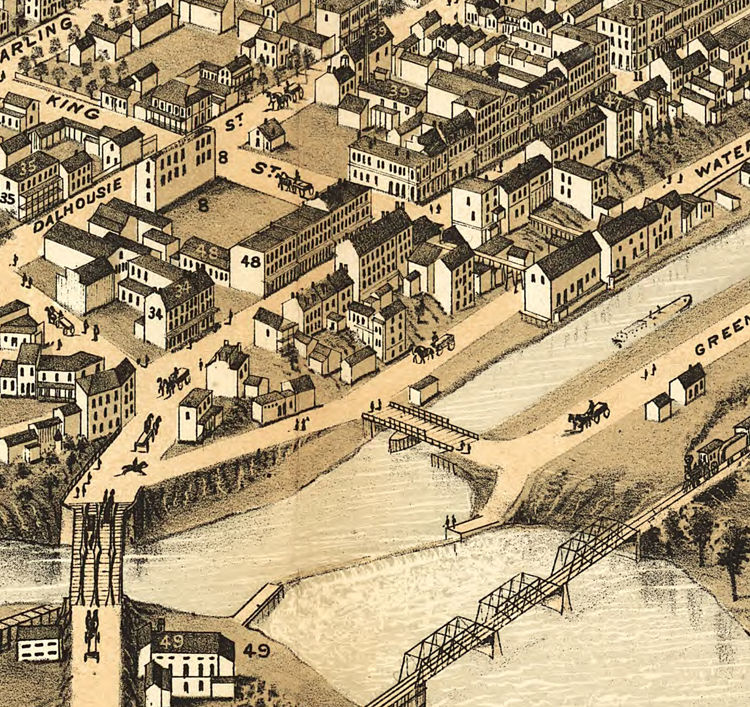 Brantford (ON) Canada  city photo : Old Map of Brantford Canada 1875 Panoramic View OLD MAPS AND VINTAGE ...