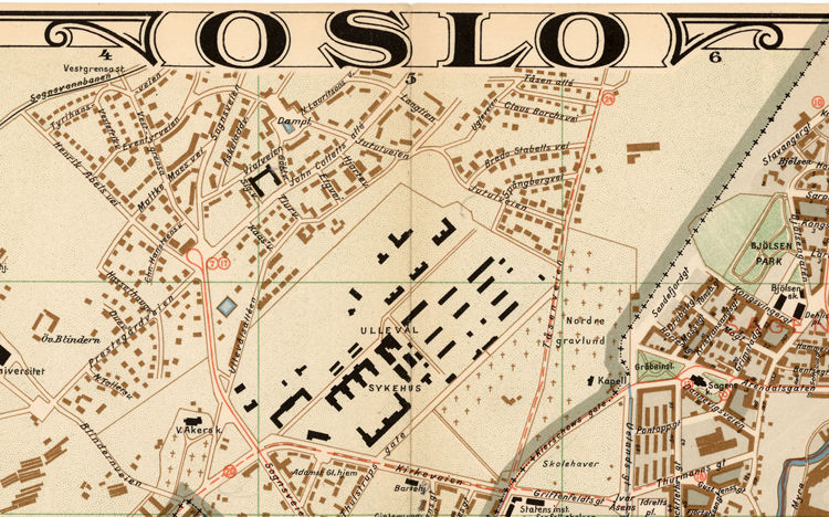 Old Map of Oslo Norway 1938 Antique Kristiania OLD MAPS AND