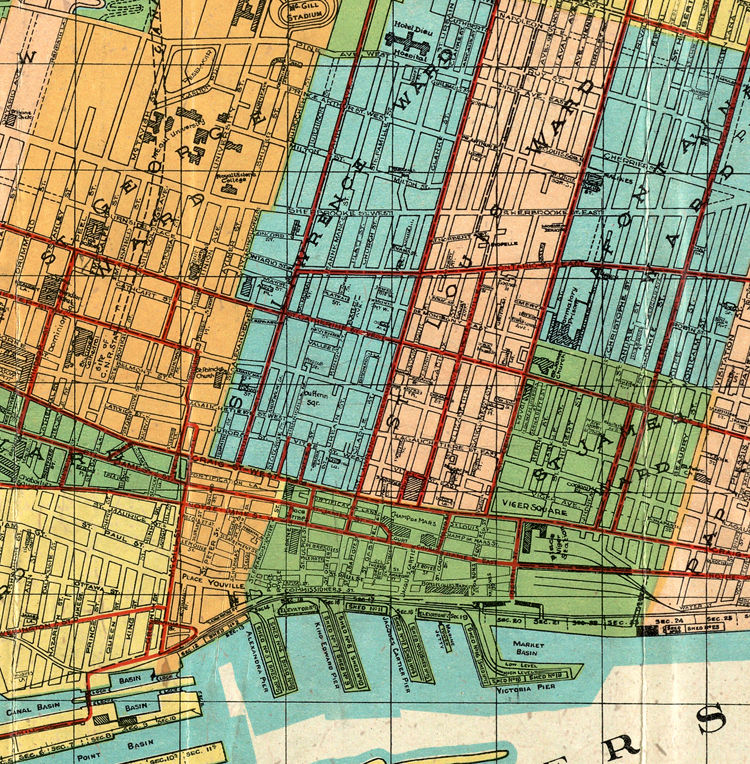 Old Map Of Montreal Canada OLD MAPS AND VINTAGE PRINTS - Montreal canada map