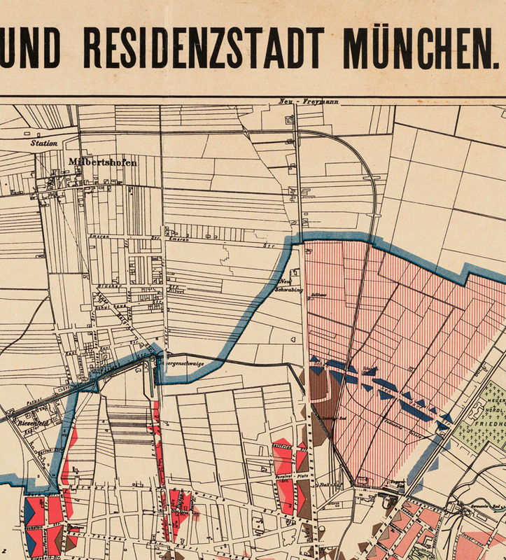 Old Map Of Munster Munich Germany Deutshland OLD MAPS AND - Germany map 1900