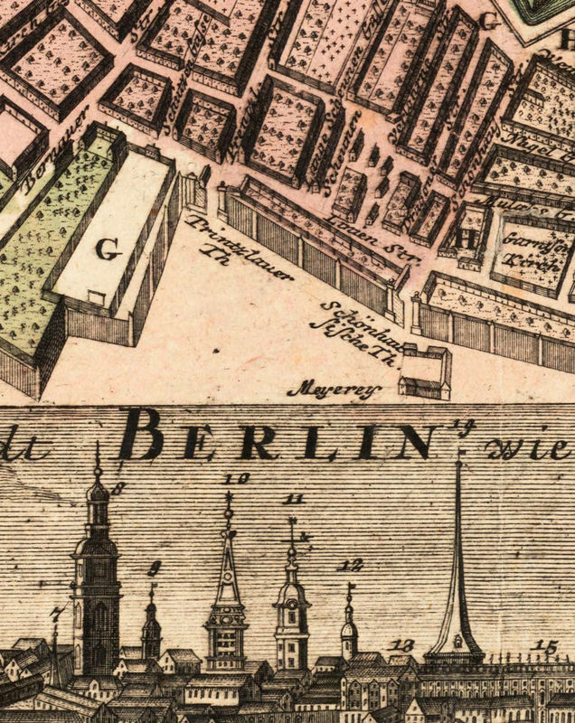 Old Map Of Berlin Germany Antique Vintage OLD MAPS AND - Vintage map berlin