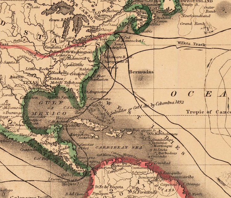 Old World Map Atlas Vintage World Map 1850 Mercator Projection Old