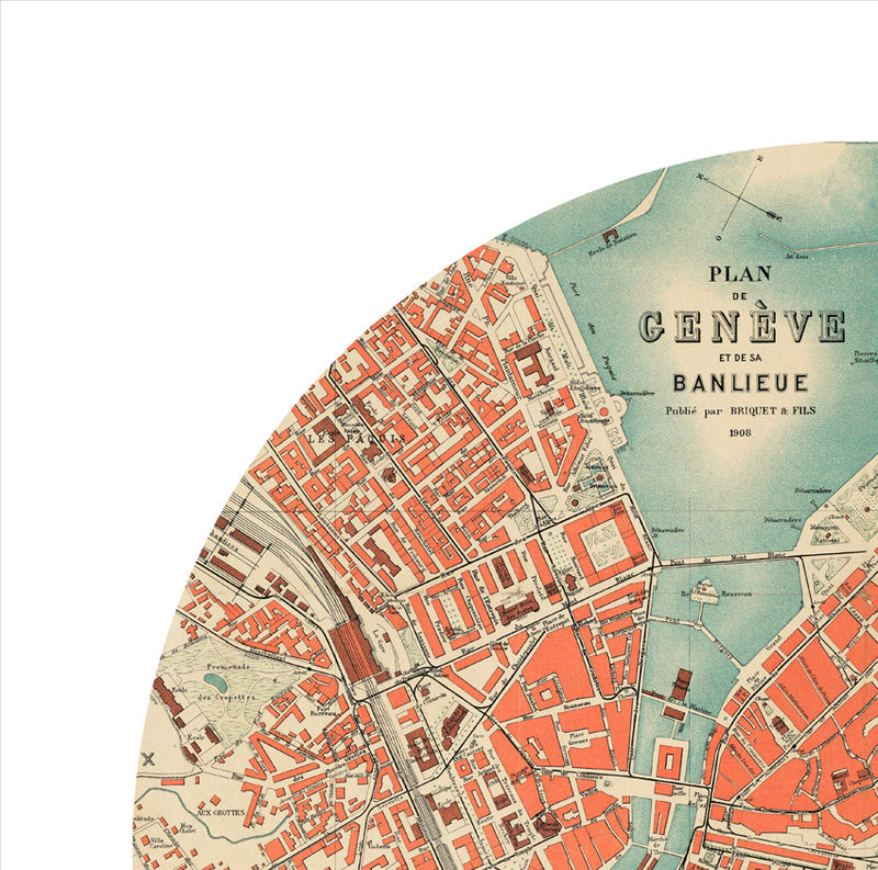 GENEVA city poster city map poster print OLD MAPS AND VINTAGE
