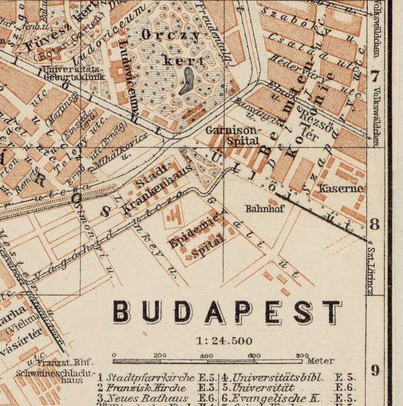 Old Map Of Budapest Hungary OLD MAPS AND VINTAGE PRINTS - Vintage budapest map
