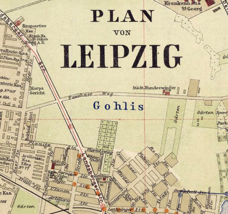 Old Map of Leipzig 1925 Germany Deutshland OLD MAPS AND VINTAGE PRINTS