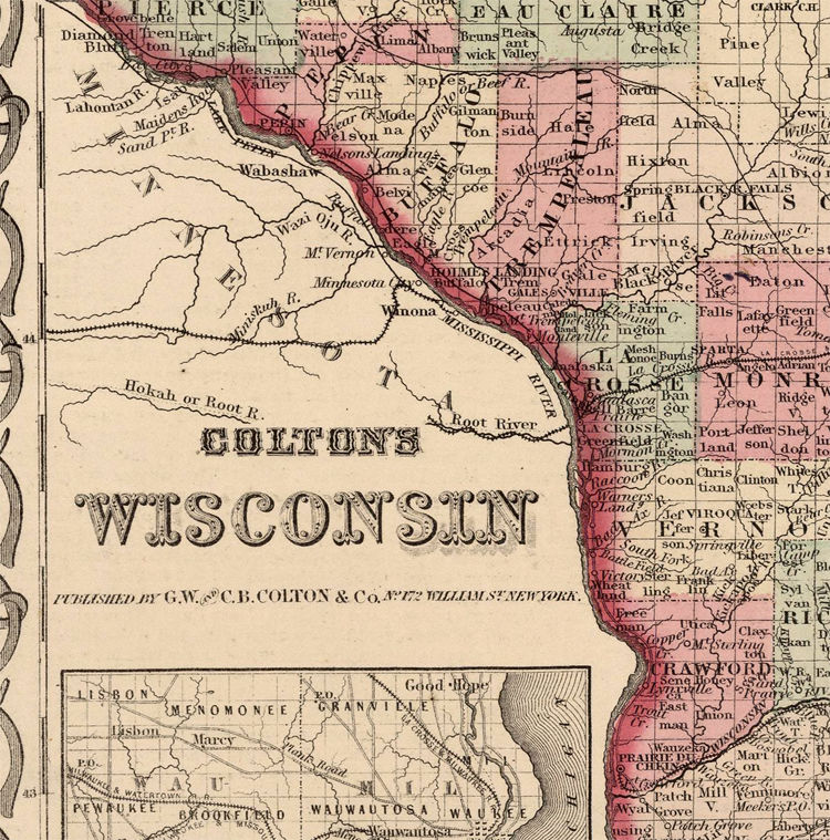 Old Map Wisconsin 1864 Old Maps And Vintage Prints