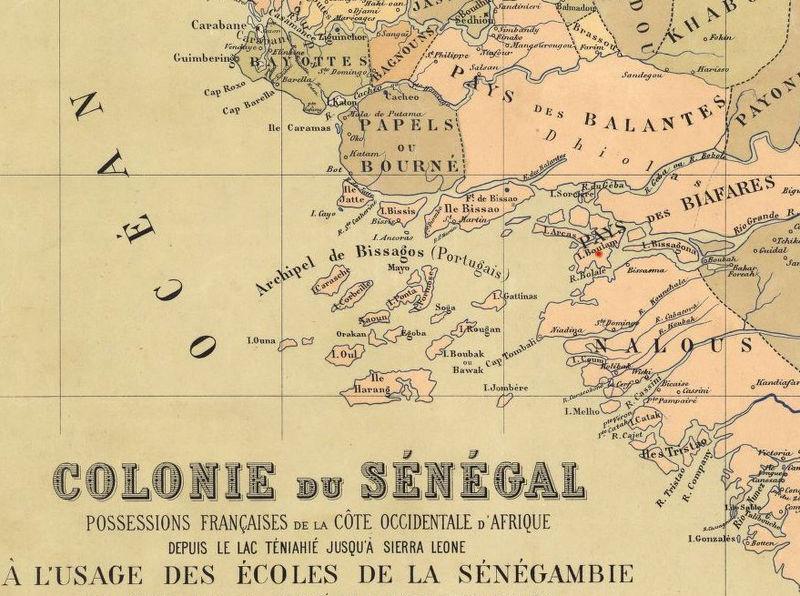 Old Map of Senegal 1884 Vintage map OLD MAPS AND VINTAGE PRINTS