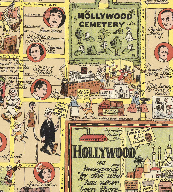Old Map of Hollywood Los Angeles 1928 - OLD MAPS AND ...
