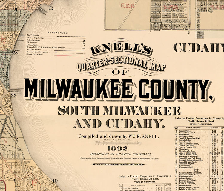 Old Map Of Milwaukee County And City Vintage Map OLD MAPS AND - Vintage milwaukee map