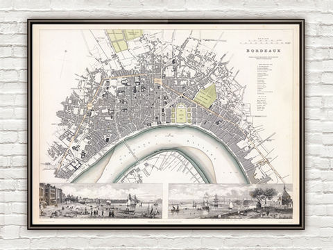 Old,Map,of,Bordeaux,with,gravures,,City,Plan,France,1832,Vintage,Art,Reproduction,Open_Edition,vintage,gravure,vintage_map,city_plan,panoramic_view,old_map,vintage_poster,bordeus,bordeaux_map,map_of_bordeaux,antique_map