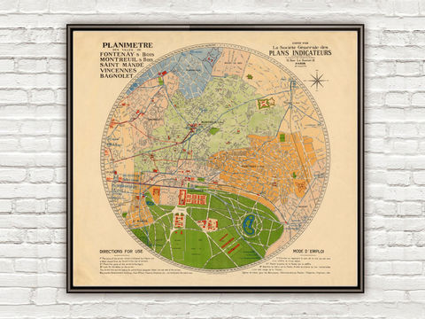 Old,Map,of,Vincennes,1930,France,Art,Reproduction,Open_Edition,vintage,gravure,vintage_map,city_plan,panoramic_view,vincennes,old_map,vintage_poster,vincennes_map,map_of_vincennes,antique_map