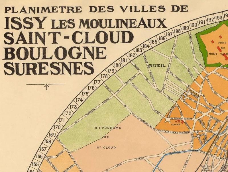 old map of suresnes saint cloud boulogne billancourt issy les moulineaux 1930 old maps and. Black Bedroom Furniture Sets. Home Design Ideas
