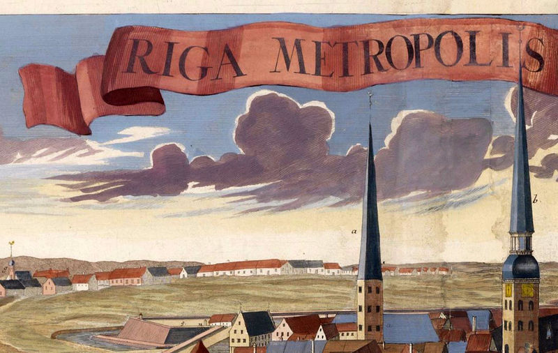 Old Map Of Riga Latvia OLD MAPS AND VINTAGE PRINTS - Old riga map