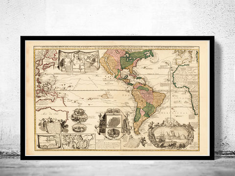 Beautiful,World,Map,Vintage,Atlas,1740,Art,Reproduction,Open_Edition,World_map,old_map,antique,atlas,discoveries,explorations,vintage_poster,city_plan,earth_atlas,map_of_the_world,world_map_poster,old_world,vintage_world_map