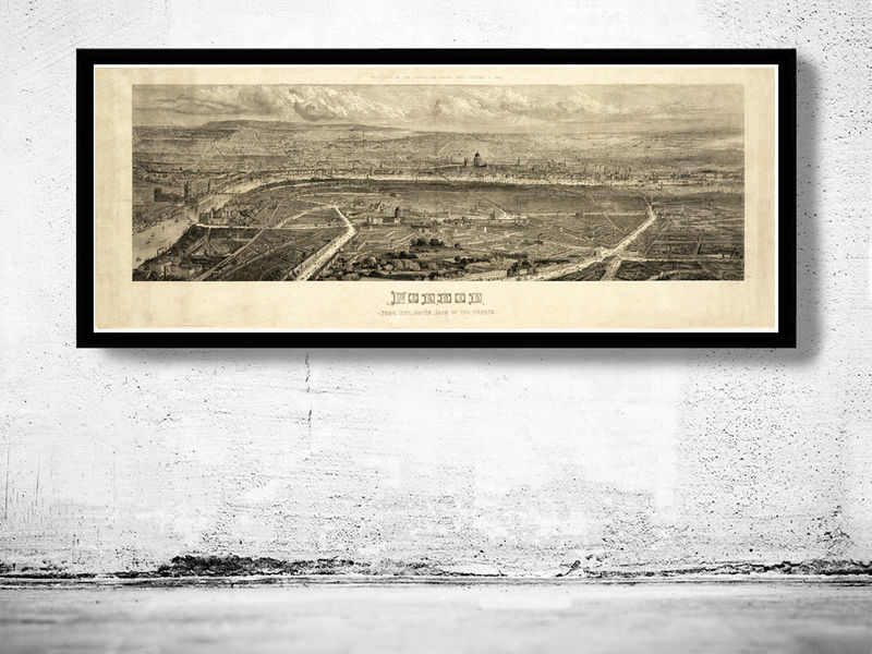 Old View of London , England United Kingdom 1861 - OLD MAPS AND ...