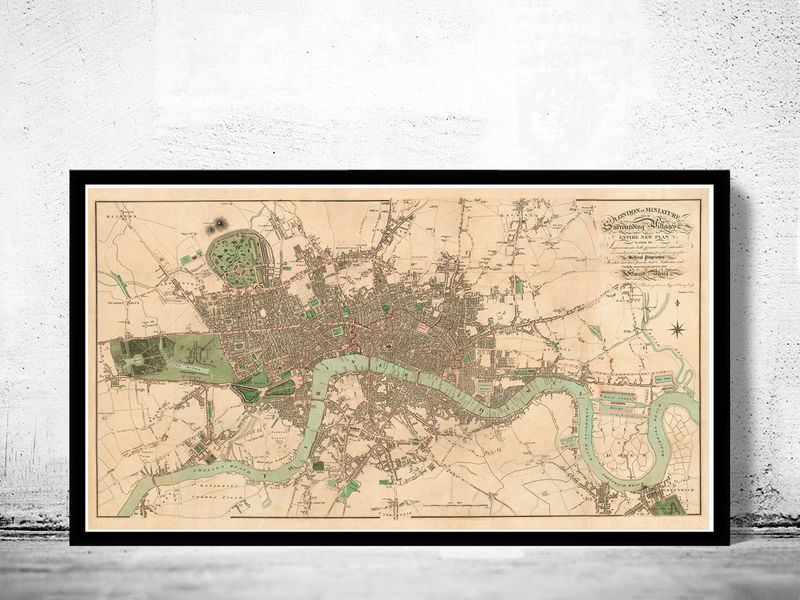Old London Map England United Kingdom OLD MAPS AND VINTAGE - Us map 1814