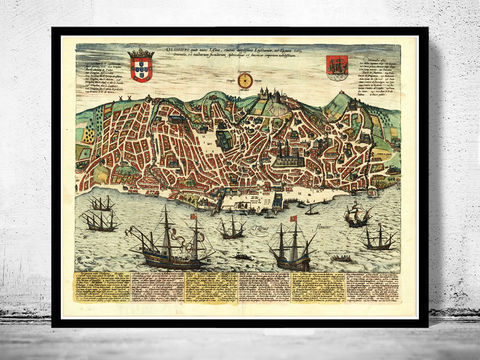 Old,Map,of,Lisbon,1598,Lisboa,Portugal,mapa,antigo,mapa de lisboa, Art,Reproduction,Open_Edition,plan,panoramic_view,portugal,lisbon,lisboa,1844,old_lisbon_map,lisbon_map,lisbon_vintage,lisbon_city,map_of_lisbon,lisbon_retro,antique_lisbon