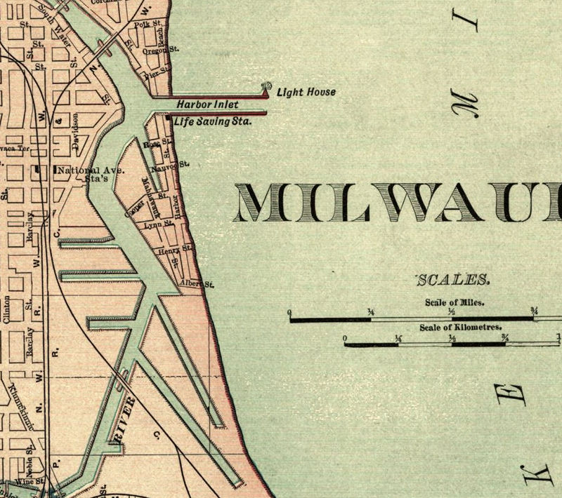 Old Map Of Milwaukee OLD MAPS AND VINTAGE PRINTS - Vintage milwaukee map