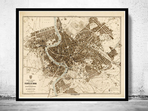 Old,Map,City,Plan,of,Rome,Roma,,Italia,1892,Antique,Vintage,Italy,old maps of rome, roma antiqua, antique rome, old map of roma, mapa di roma, Art,Reproduction,Open_Edition,city_map,retro,antique,Europe,rome,roma,italy,italia,vintage_map,city_plan,old_map,map_of_rome,rome_map