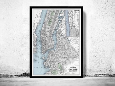 Old,Map,of,New,York,Brooklyn,Manhattan,1886,Art,Reproduction,Open_Edition,united_states,brooklyn,new_york,Hudson_River,new_york_map,antique_map,map_of_new_york,NY_map,manhatan_map,brooklyn_map,manhattan_poster,new_york_poster,new_york_vintage