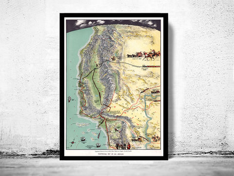Old,Map,of,Los,Angeles,Plan,United,States,America,California,antique,1929,Art,Reproduction,Open_Edition,plan,illustration,gravures,united_states,Los_Angeles,north_america,historic_map,old_map,vintage_map,city_plan