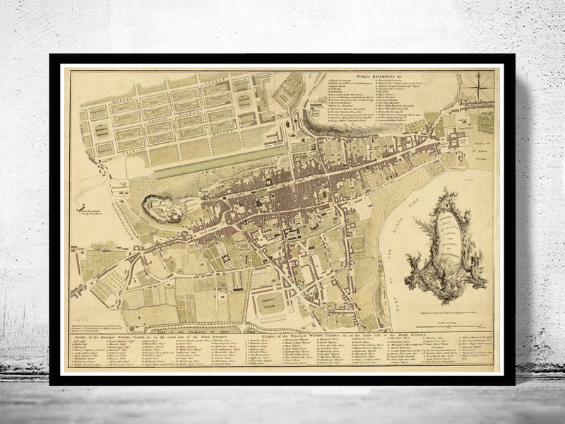 Old Map Of Edinburgh Scotland United Kingdom OLD MAPS AND - Old maps of dublin
