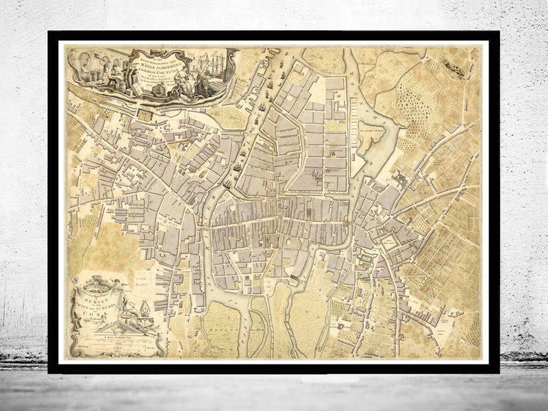Vintage map of cork ireland 1759 antique vintage old maps and vintage map of cork ireland 1759 antique vintage product image gumiabroncs Image collections