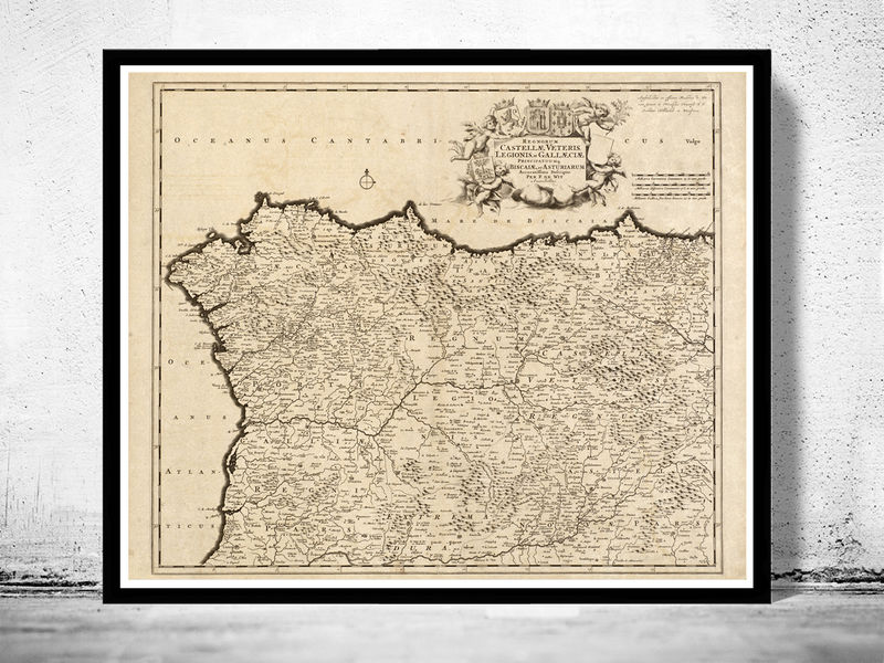 Old map of galicia corua corunya 1780 spain old maps and old map of galicia corua corunya 1780 spain old maps and vintage prints gumiabroncs Gallery