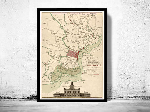 Old,Map,of,Philadelphia,1777,Art,Reproduction,Open_Edition,vintage,plan,illustration,philadelphia,United_States,USA,city_map,city_plan,old_map,vintage_poster
