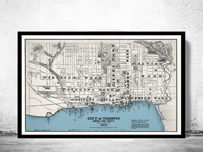 Old map of toronto ontario canada 1897 vintage map toronto old old map of toronto ontario canada 1897 vintage map toronto product image gumiabroncs Choice Image