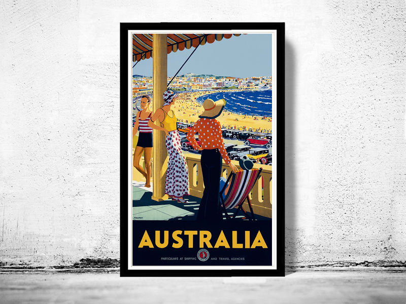 Vintage Poster of Australia 1920 Tourism poster travel - OLD MAPS ...