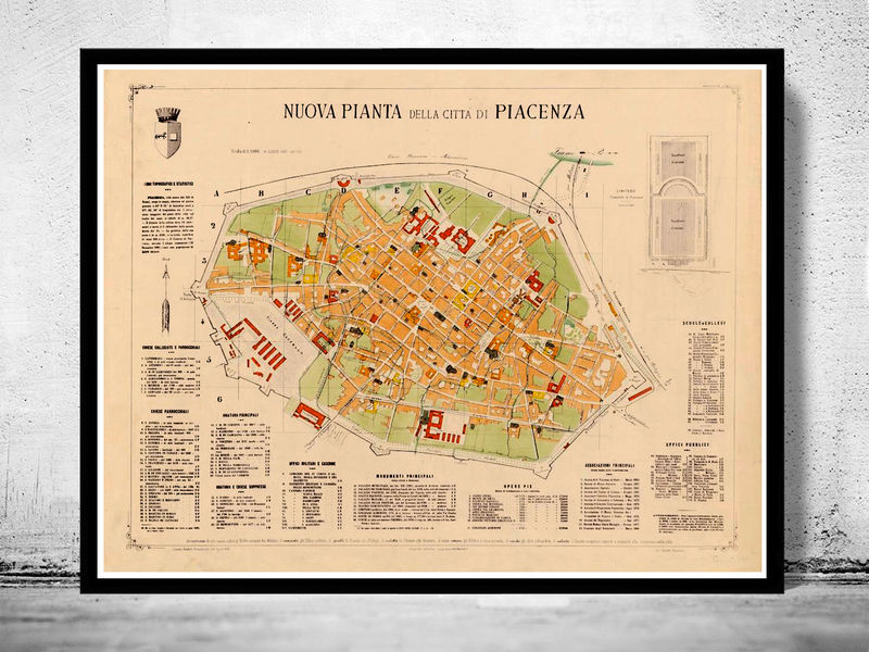 italy Collection OLD MAPS AND VINTAGE PRINTS