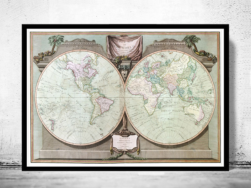Old world map antique 1880 old maps and vintage prints old world map antique 1880 product image gumiabroncs Images