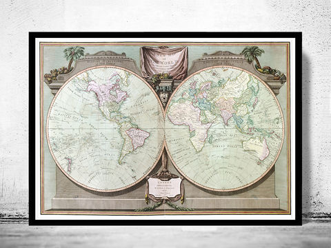 Old,World,Map,Antique,1880,Art,Reproduction,Open_Edition,map,old,vintage,World_map,old_map,antique,atlas,imperial,ornamental,antique_map